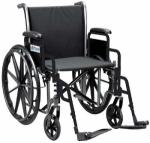 Wheelchair 18  w Fixed Arms & Swingaway Det. Footrests