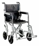 Wheelchair Transport   Companion 19  Wide  Chrome