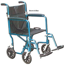 Wheelchair Transport Lightweight Blue 17