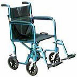 Wheelchair Transport Lightweight 17  Silver