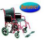 Transport Wheelchair Bariatric 22  Wide Red
