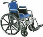 Wheelchair Std Rem Full Arms & Swing Away Footrests 18