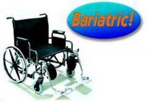 Bariatric Wheelchair Rem Full & Adj Height Arms 20  Wide