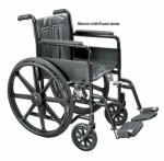Wheelchair Economy Fixed Arms 18  w Swing-Away Footrests