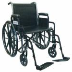 Wheelchair Economy Fixed Arms 16  w Swing-Away Footrests