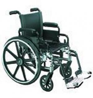 Wheelchair Lightweight Deluxe K-4 w Flip-Back Rem Full Arms 20