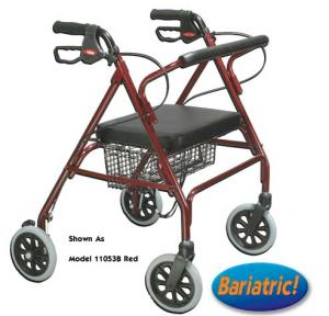 Oversize Rollator With Loop Bk Blue Bariatric Steel 10215BL-1
