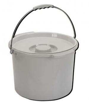 Commode Pail With Lid 12 Quart