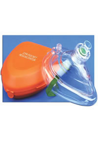 CPR Pocket Mask W Hard Case & One-Way Valve & O2 Inlet