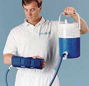 Aircast Hand and Wrist Cryo- Cuff w  Cooler
