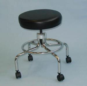Classic Doctors Stool W O Back W  Foot Ring & Casters