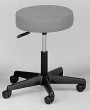 Pneumatic Doctors Stool W O Back W O Foot Ring Black