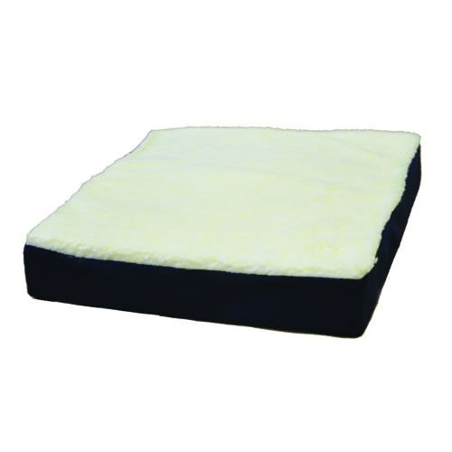 Gel Wheelchair Cushion w  Fleece Top 16  x 18  x 3.5