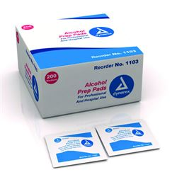 Alcohol Prep Pads Large Bx 100