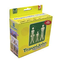 Travel John Disp Urinary Pouch Bx 3