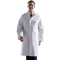 Men's Premium Full Length Lab Coat  Heavyweight Cotton Twill 44