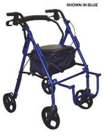 Duet Rollator Transport Chair Burgundy
