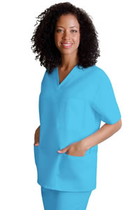 Adar Uniforms V-Neck Tunic Top