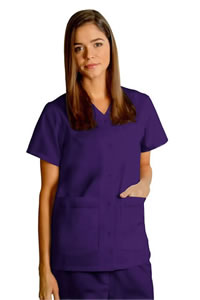 Adar Uniforms Double Pocket Snap-Front Top