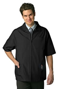 Adar Men's Zippered Short Sleeve Jacket