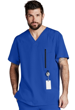 Barco One Men's Raglan V-Neck Scrub Top #0115