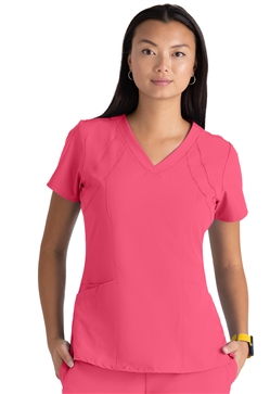 Barco One Women's 4 pocket Fashion Scrub Top #5105