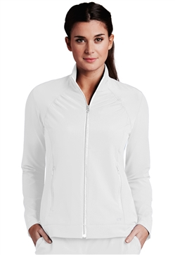 Barco One Women's Modern Zip Scrub Jacket #5405