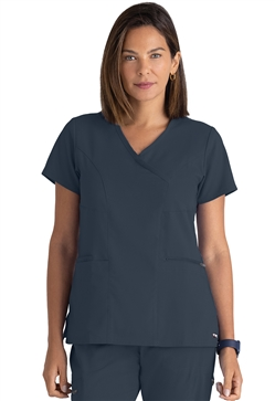 Grey's Anatomy Spandex Stretch Surplice Tops #GRST001