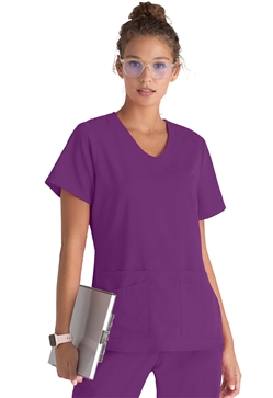 Grey's Anatomy Spandex Stretch 4 Pocket Tops #GRST011