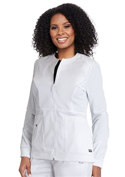 "Grey's Anatomy Spandex Stretch ""Millie"" Scrub Jacket #GRSW017"