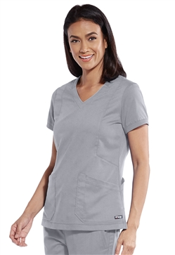 "Grey's Anatomy Women's Knit V-neck ""Love"" Scrub Tops #GRT049"