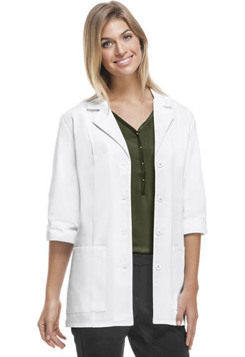 Cherokee Three Quarter Sleeve Button Up Lab Coat