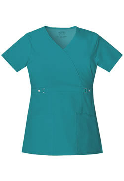 Cherokee Luxe Women's Junior Mock Wrap Scrub Top #21701