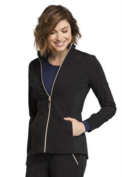 Cherokee Statement Zip Front Warm-up Scrub Jackets #CK365