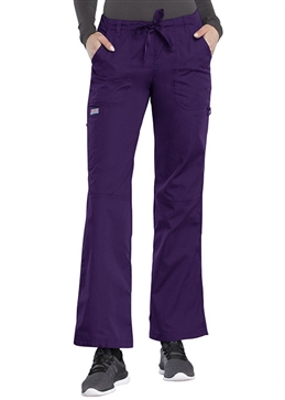 Cherokee Workwear Women's Low-Rise Drawstring Cargo Pant