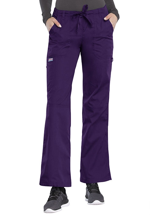 7611204c8cd Cherokee Workwear Women's Low-Rise Drawstring Cargo Pant