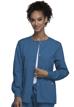 Cherokee Workwear Women's Snap Front Warm-Up Jacket