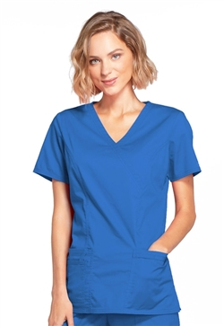 Cherokee Workwear Core Stretch Women's Mock Wrap Scrub Top