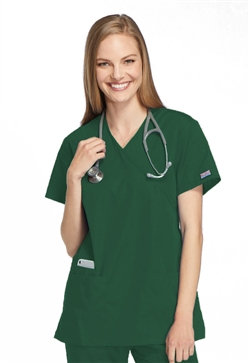Cherokee Workwear Women's Mock Wrap Tunic
