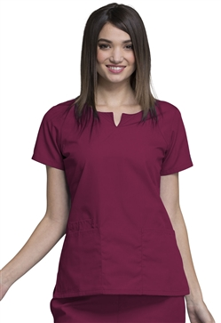 Cherokee Workwear Women's Round Neck Top