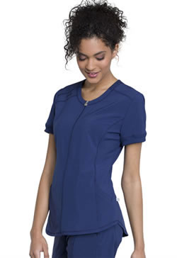 Infinity by Cherokee-Antimicrobial Protection-Zip Front V-Neck Tops #CK810A