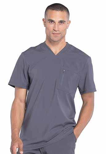 Infinity by Cherokee Antimicrobial Protection Men's V-Neck Tops #CK910A