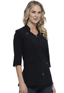 Infinity Antimicrobial Women's Zip Front Tunic with Fluid Barrier #CK952A