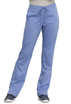 Revolution Workwear Women's Mid Rise Straight Leg Drawstring Pants # WW005