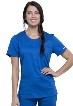 Cherokee Revolution Workwear Women's Round Neck Scrub Top