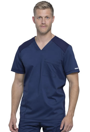 Cherokee Revolution Workwear Men's V-Neck Scrub Top #WW603