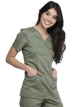 Revolution Workwear Mock Wrap Top #WW610