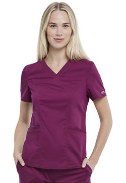 Revolution Workwear Women's Petite V-Neck Tops #WW612P