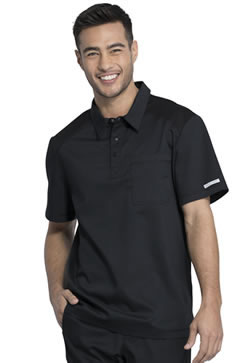 Cherokee Revolution Workwear Men's Polo Scrub Shirt #WW615