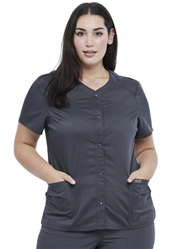 Revolution Workwear Women's Snap Front V-Neck Tops #WW622